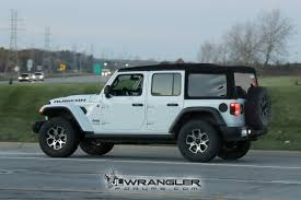 jeep wrangler overland rubicon sahara sport and overland jl wranglers spotted in