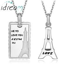 mens engraved necklaces necklaces matching eiffel tower necklaces set for women