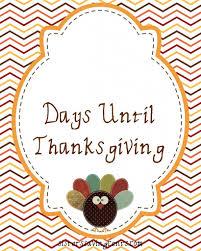 countdown to thanksgiving printable