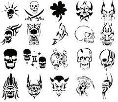 small black skull tattoo designs