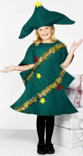 christmas tree costume christmas kids fancy dress party pieces