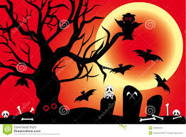 illustration for halloween with spooky design elem royalty free