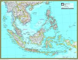 Southeastern Usa Map by National Geographic Southeast Asia Wall Map Maps Com