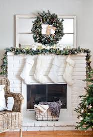 White Christmas Mantel Ideas by Rustic Glam Christmas Tree And Mantel Yellow Bliss Road