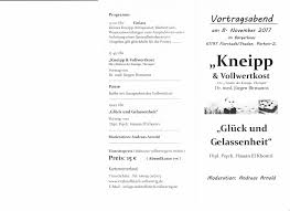 Bad Nauheim Therme Kneipp U0026 Vollwertkost Vortragsabend Im Bürgerhaus Florstadt