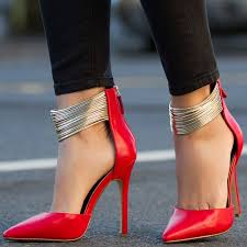 Pumps Red Ankle Strap Pumps For Girls U0027 Night Out