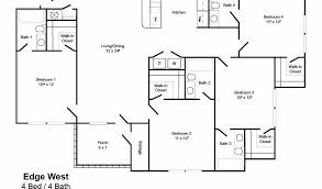 4 bedroom floor plan edge west 4 4 northcutt realty