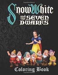 snow white dwarfs coloring book lovely a4 45