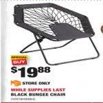 black bungee chair for 19 88 at home depot
