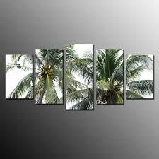 factory low price framed large palm tree island landscape wall