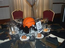 Centerpieces For Banquet Tables by Party Table Centerpieces Basketball Personalized