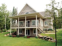 daylight basement home plans impressive design lakefront home plans with walkout basement house