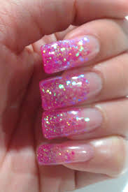 gel nail designs with glitter cute nails