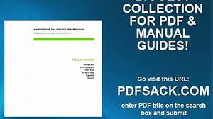 kia sportage 2001 service repair manual video dailymotion