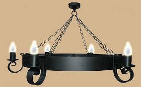 Wrought Iron Ceiling Lights Wrought Iron Black Cartwheel Ceiling Light Uk Made 853 5