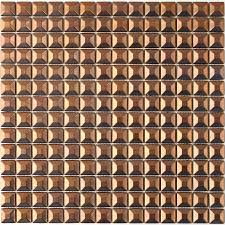 Copper Tiles For Kitchen Backsplash Shop Solistone Byzantine Metal Copper Uniform Squares Mosaic Metal