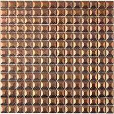 shop solistone byzantine metal copper uniform squares mosaic metal