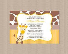giraffe themed baby shower giraffe baby shower invitations kawaiitheo