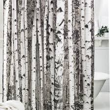 Shower Curtains With Trees Tree Pattern Shower Curtain Polyester Soft Bath Curtain Brown