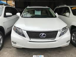 white lexus 2010 lexus rx 450h 2010 white full option triple beam side camera new