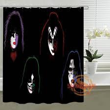 Design Your Own Shower Curtain Online Shop Kiss Band Shower Curtain Custom Create Design Your Own