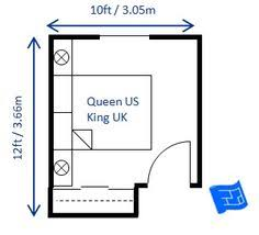 here u0027s 8 x 9ft 2 44 x 2 74m bedroom layout which fulfills the 70