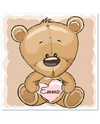 cadre ourson chambre bébé tableau personnalisé bébé fille cadeau de naissance chambre bébé