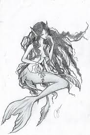 mermaid sketch by darmila on deviantart