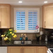 Kitchen Shutter Blinds Budget Blinds North Vancouver Bc Custom Window Coverings