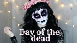 day of the dead halloween makeup tutorial youtube