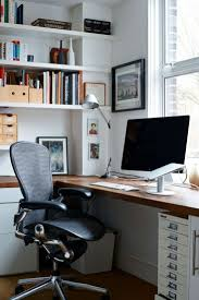 Diy L Shaped Computer Desk by Decorations Smart Home Office Space With L Shape Brown Corner