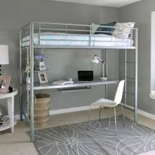 creekside twin loft bed with desk art van furniture