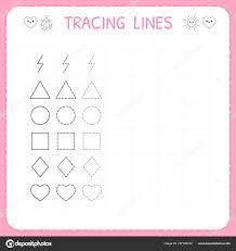 line pattern worksheet trace line worksheet for kids working pages for children preschool