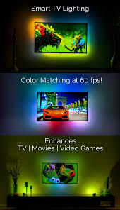 led strip lights for tv dreamscreen hd u0026 4k smart tv backlighting for any hdmi tv by