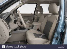 2008 ford escape seat covers 2008 ford escape hybrid in blue front seats stock photo royalty