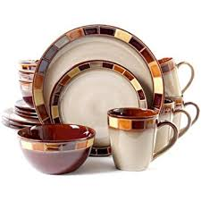 gibson elite pueblo springs 16 dinnerware set