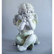 61 best cherub garden statues images on cherub