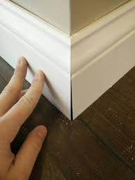 flush baseboard valuable cutting baseboard trim why are miters not straight even