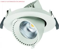Adjustable Recessed Downlights Adjustable 40w Angled Led Gimbal Downlight Led Recessed Lighting