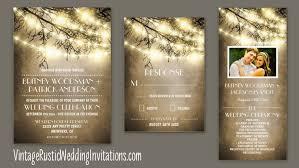 rustic vintage wedding invitations tree wedding invitations page 2 of 2 vintage rustic wedding
