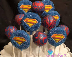 superman cake pops etsy