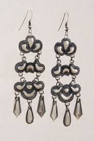 silver chandelier earrings navajo oxidized sterling silver chandelier earrings silver eagle