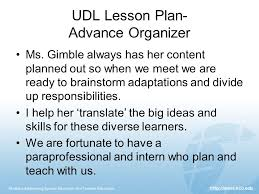 universal design for learning elementary lesson planning ppt