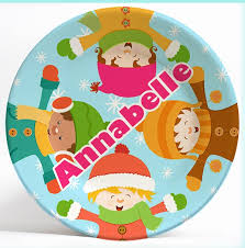 personalized melamine dinnerware plate for boys and