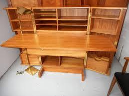 Computer Desk Cabinets Hideaway Mid Century Danish Modern Teak Desk In A Box Folding Cabinet Hide