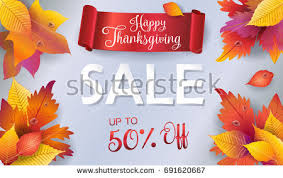 happy thanksgiving sale gift card sale stock vector 691620667