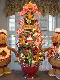 primitive gingerbread cookie baking tree in red colander w lights