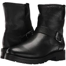 short black motorcycle boots frye natalie short engineer lug black waterproof waxed pebbled