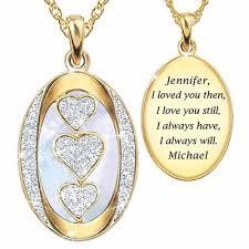 personalized pendants i you personalized diamond pendant the danbury mint