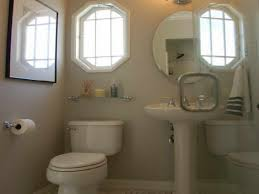 bathroom half bathroom decorating ideas using two windows or